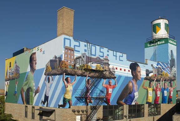 The lasalle bank mural building for Mural in chicago illinois